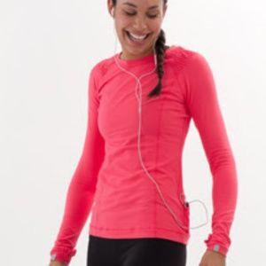 Lululemon Resolution pink ruffle long sleeve